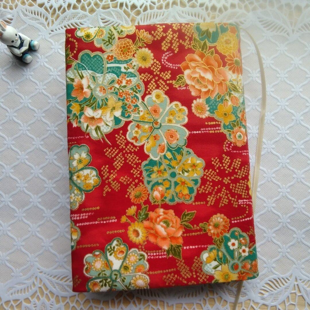 単行本ブックカバー/和の花柄