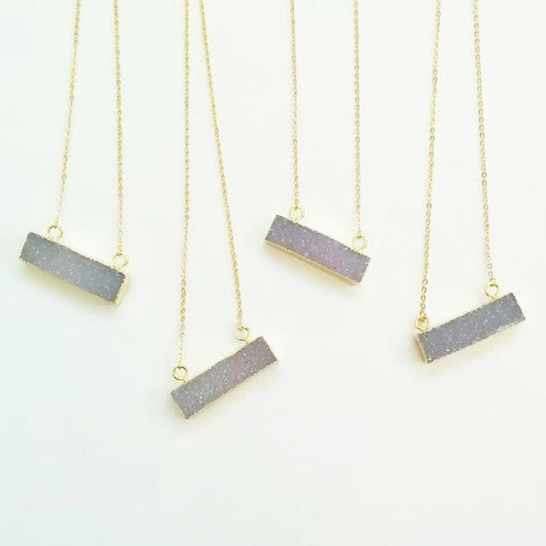 限定agate druzy pendant