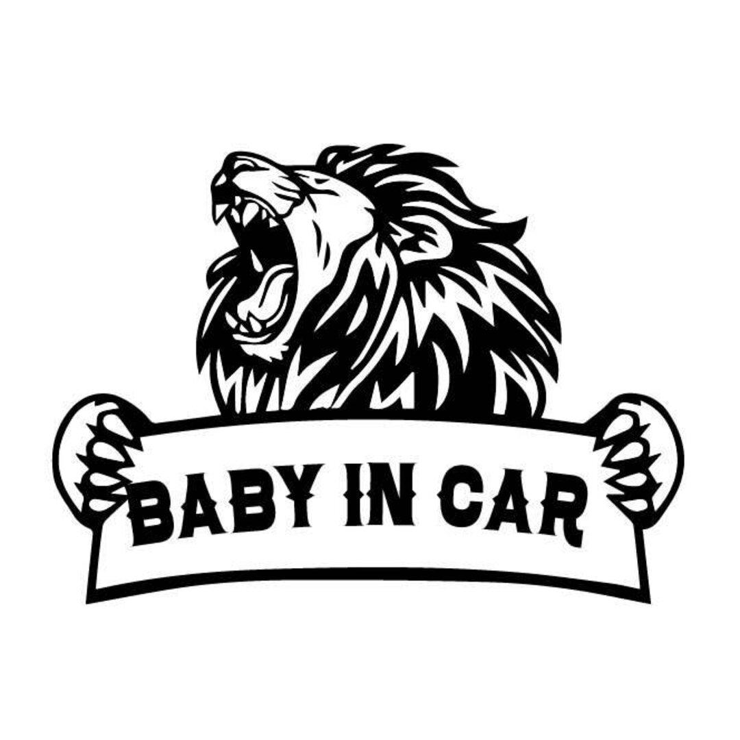 ライオン ベイビーインカー ドッグインカー ステッカー 131D