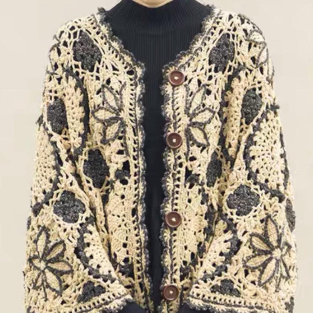 受注制作・カーディガンジャケット手編みセーター