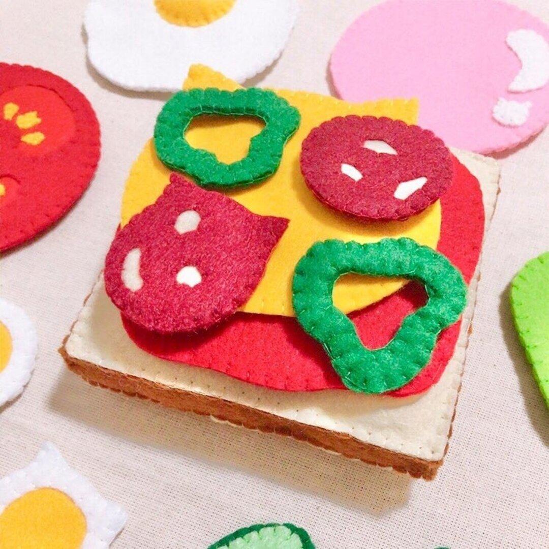 フェルトままごと 【食パン・猫①】