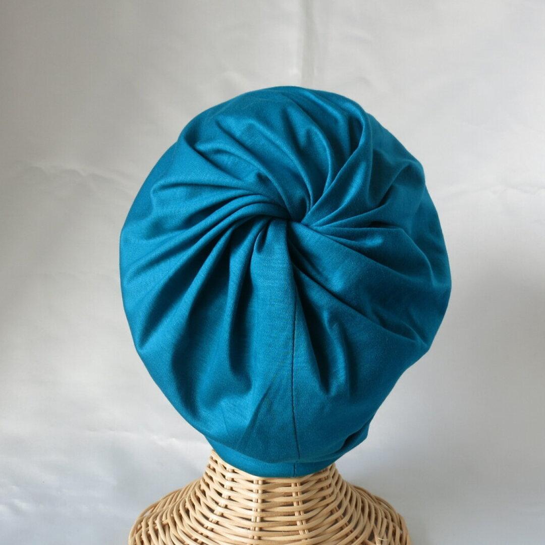 とってもシンプル 単色4色 ぐるぐる渦巻きニットキャップ ビーニー  医療用ケア帽子にも