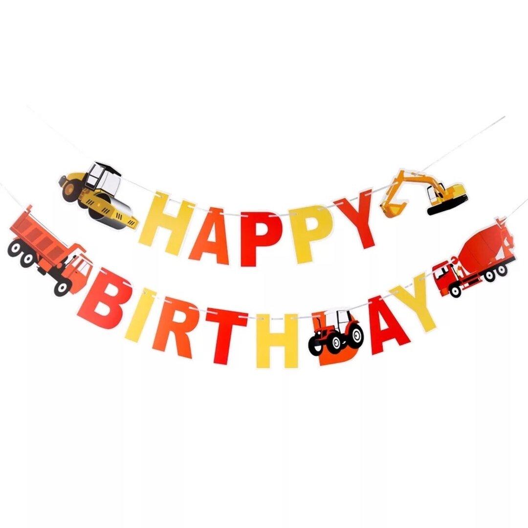 602はたらく車ガーランドお祝い飾り男の子お誕生日お祝い