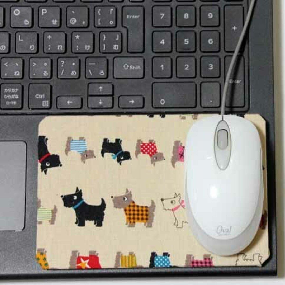 ノートPCの端っこで使うマウスパッド・わんわんわん♪(洋犬)
