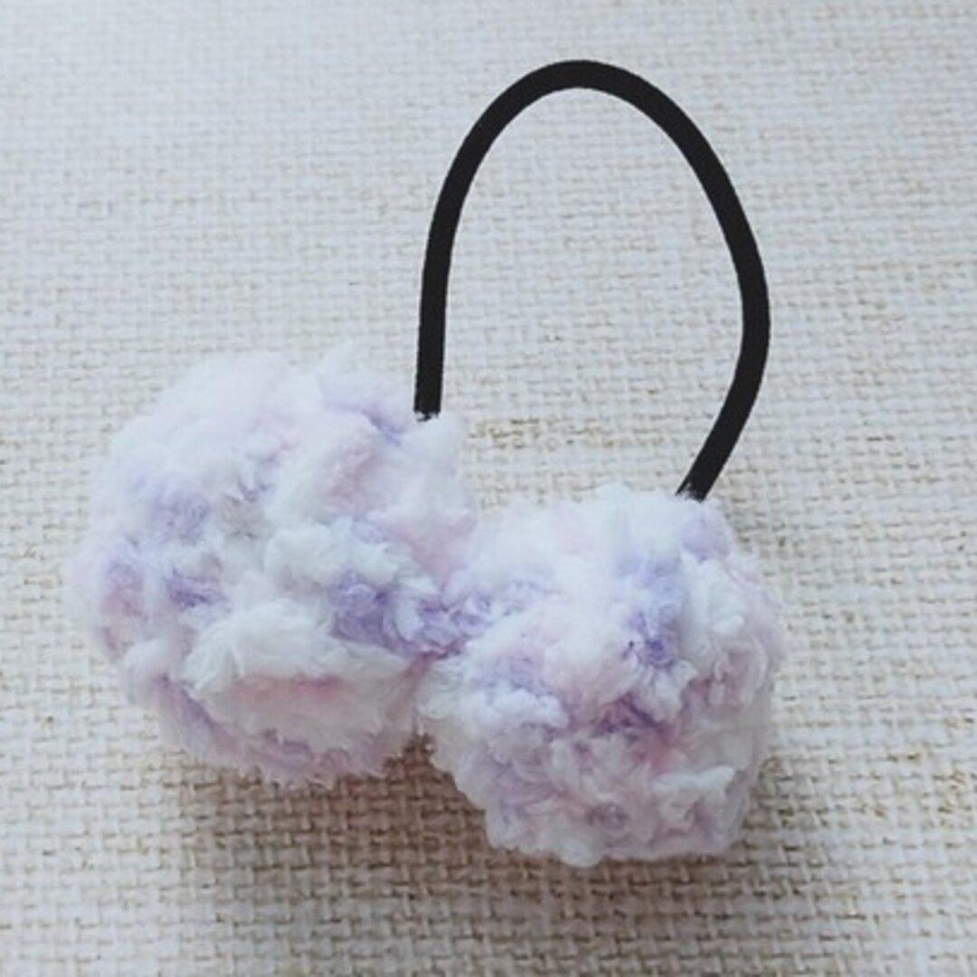 ふわふわ毛糸のボールヘアゴム