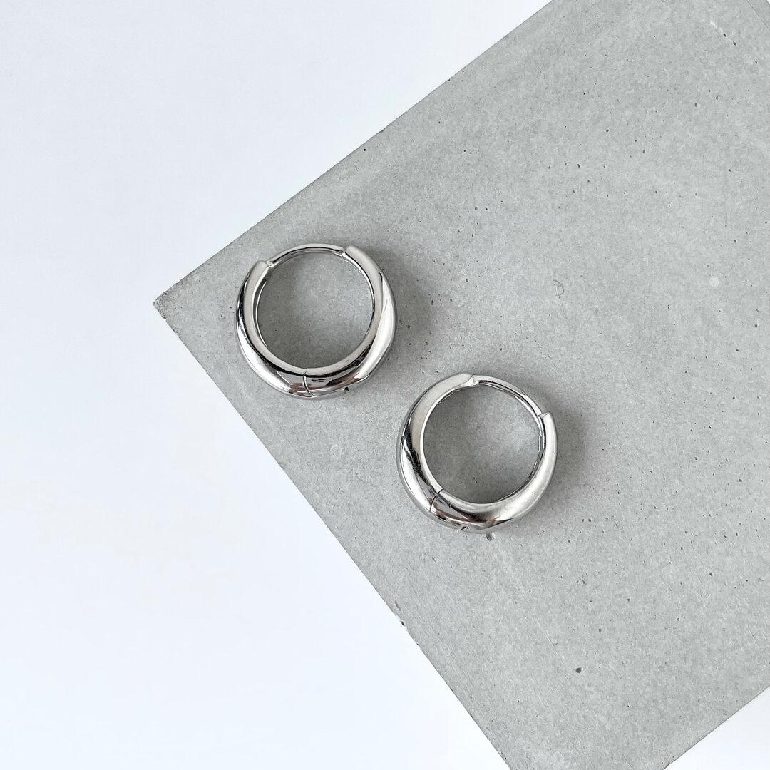 silver925 フープピアス