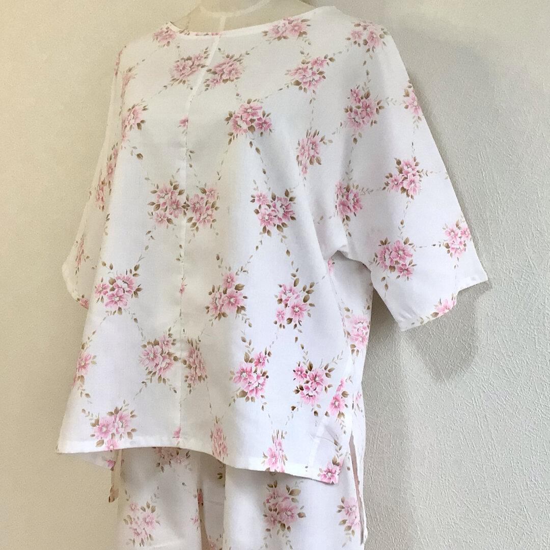 Tシャツ風ルームウェア【送料無料】古布リメイク 花柄
