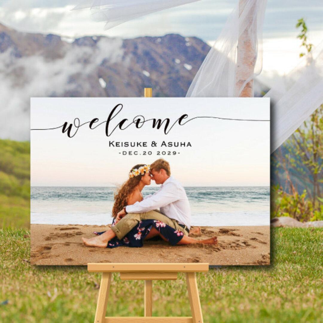 送料無料 写真をウェルカムボードに データ無料でご提供 結婚式 名入れ 二次会 ウェルカムアイテム bord0139