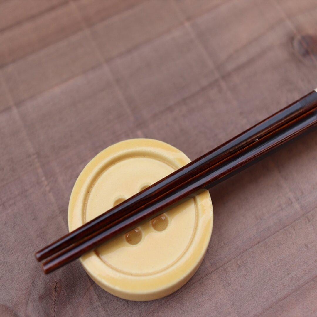 ボタンの箸休め / パンプキン / 箸 / 箸置き / カトラリ― / 陶芸 / 陶器 / 器