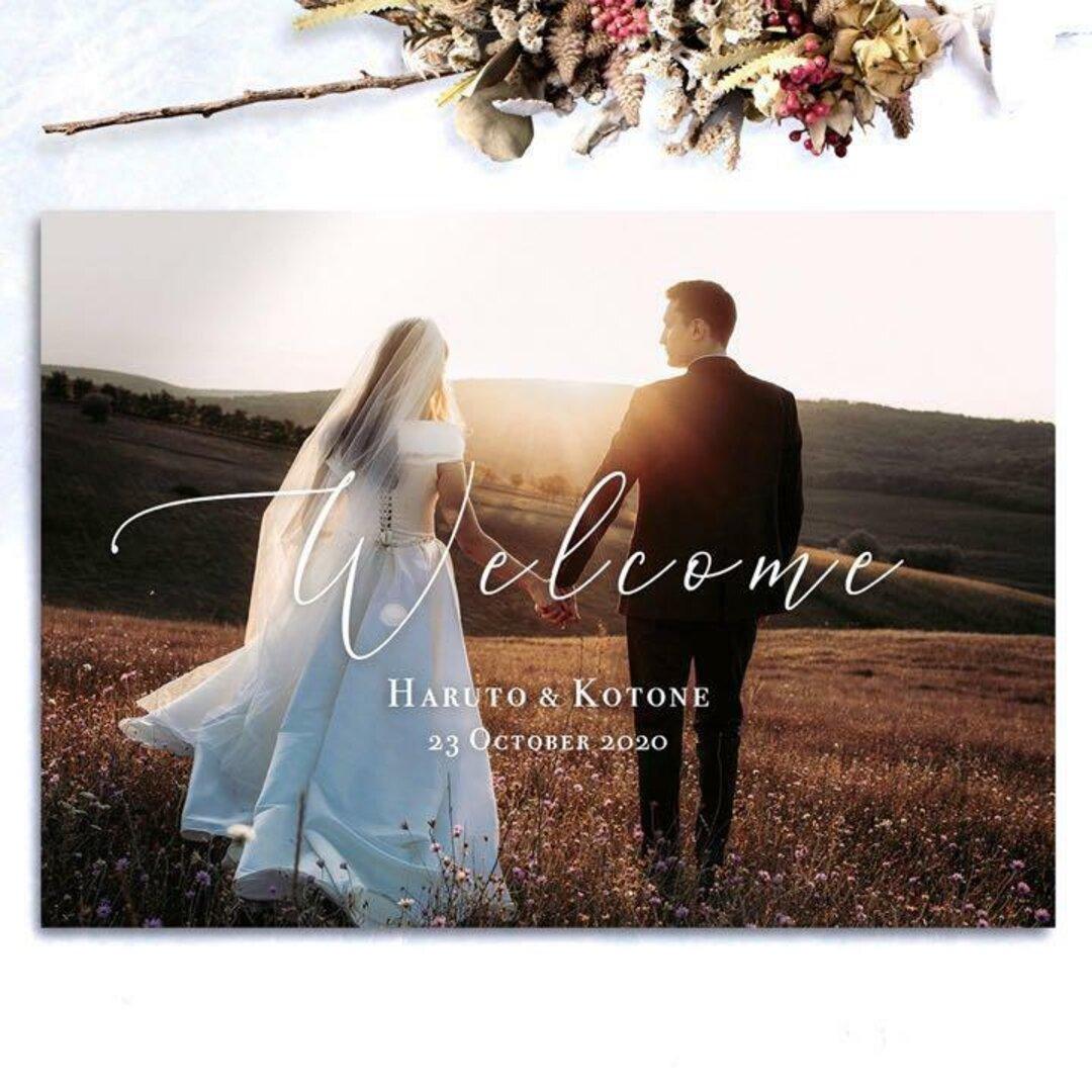ウェルカムボード 結婚式 写真入りポスターパネル印刷 #09
