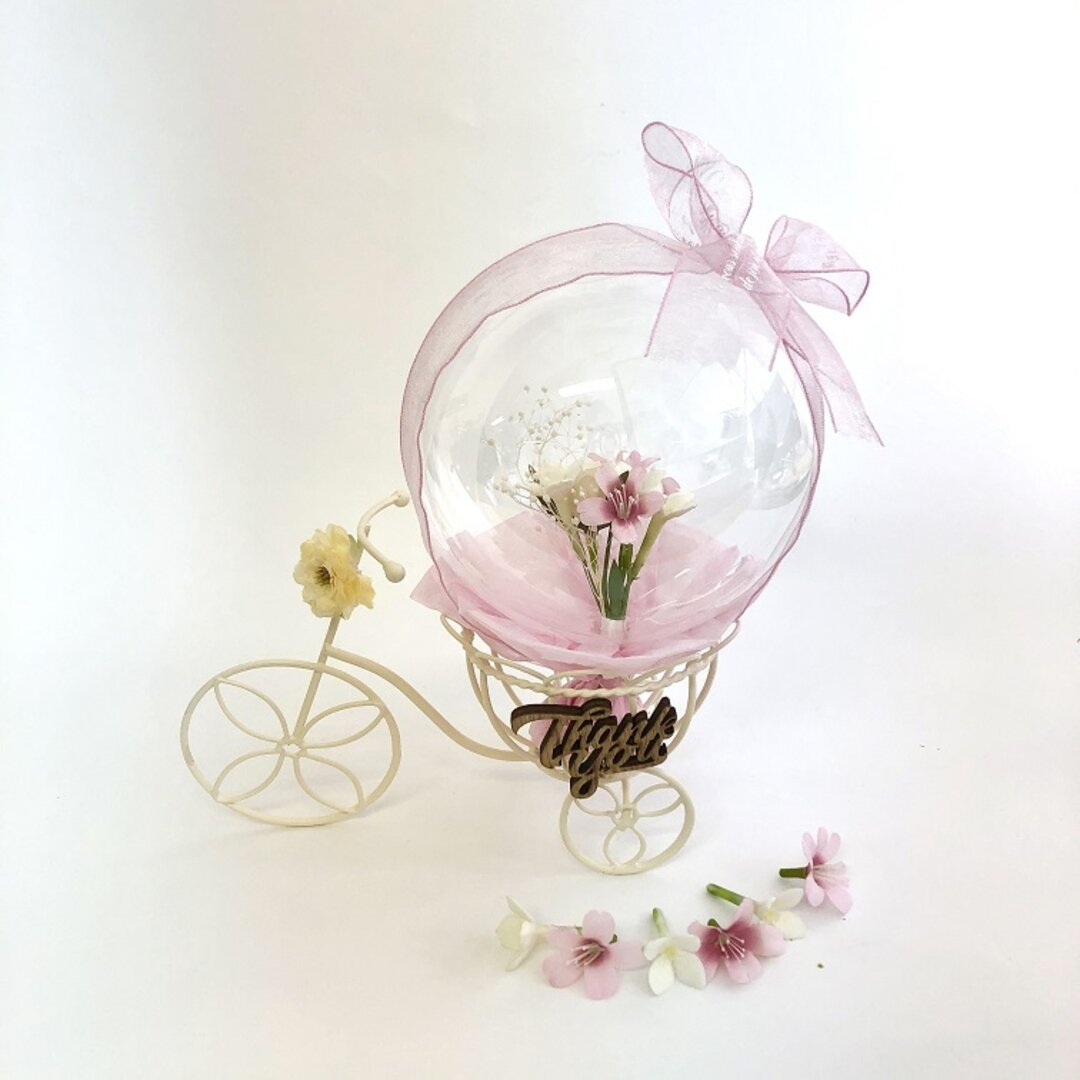 バルーンフラワー 優しい贈り物サイクルバルーン インテリア 100日祝 ウエディング 誕生日祝 受付 フラワーバルーン ウエルカムフラワー