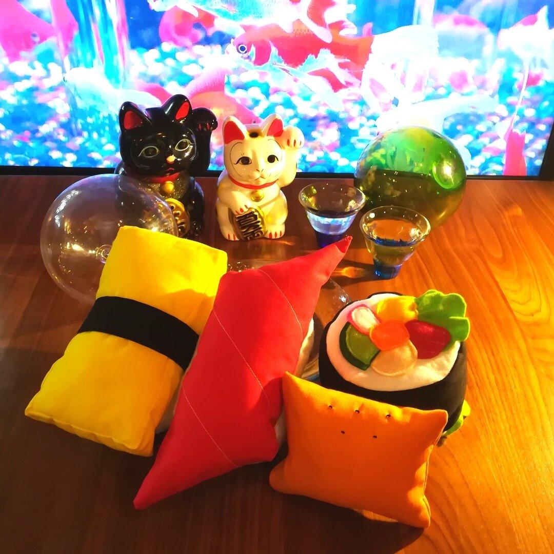 猫のお寿司セット(中サイズ)