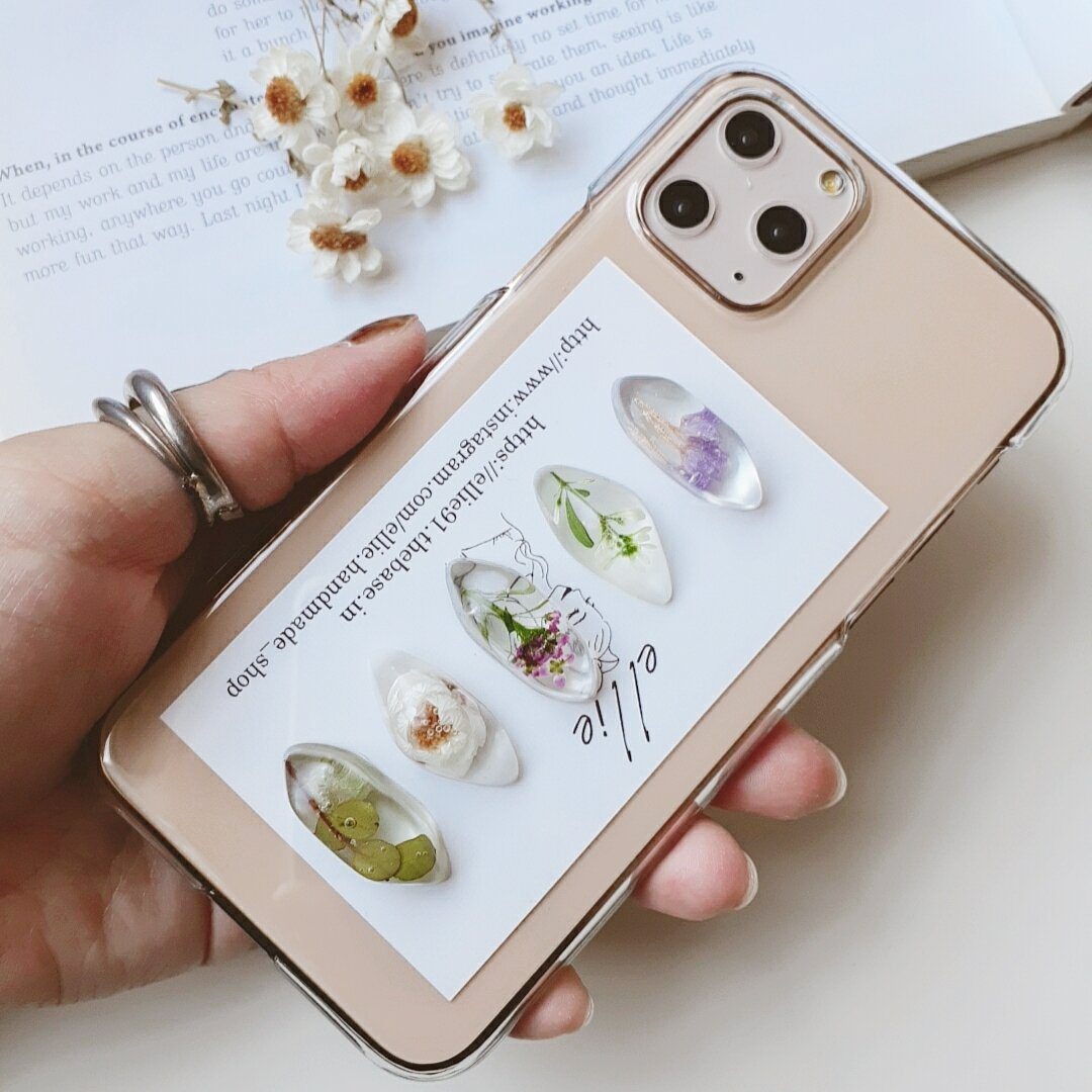 ドライフラワーiPhoneケース