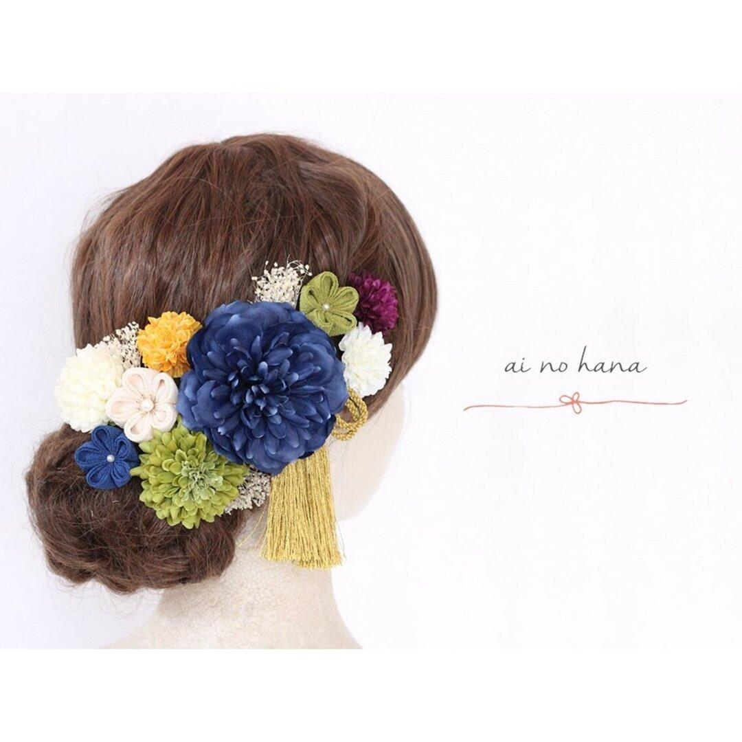 髪飾り つまみ細工 成人式  #578