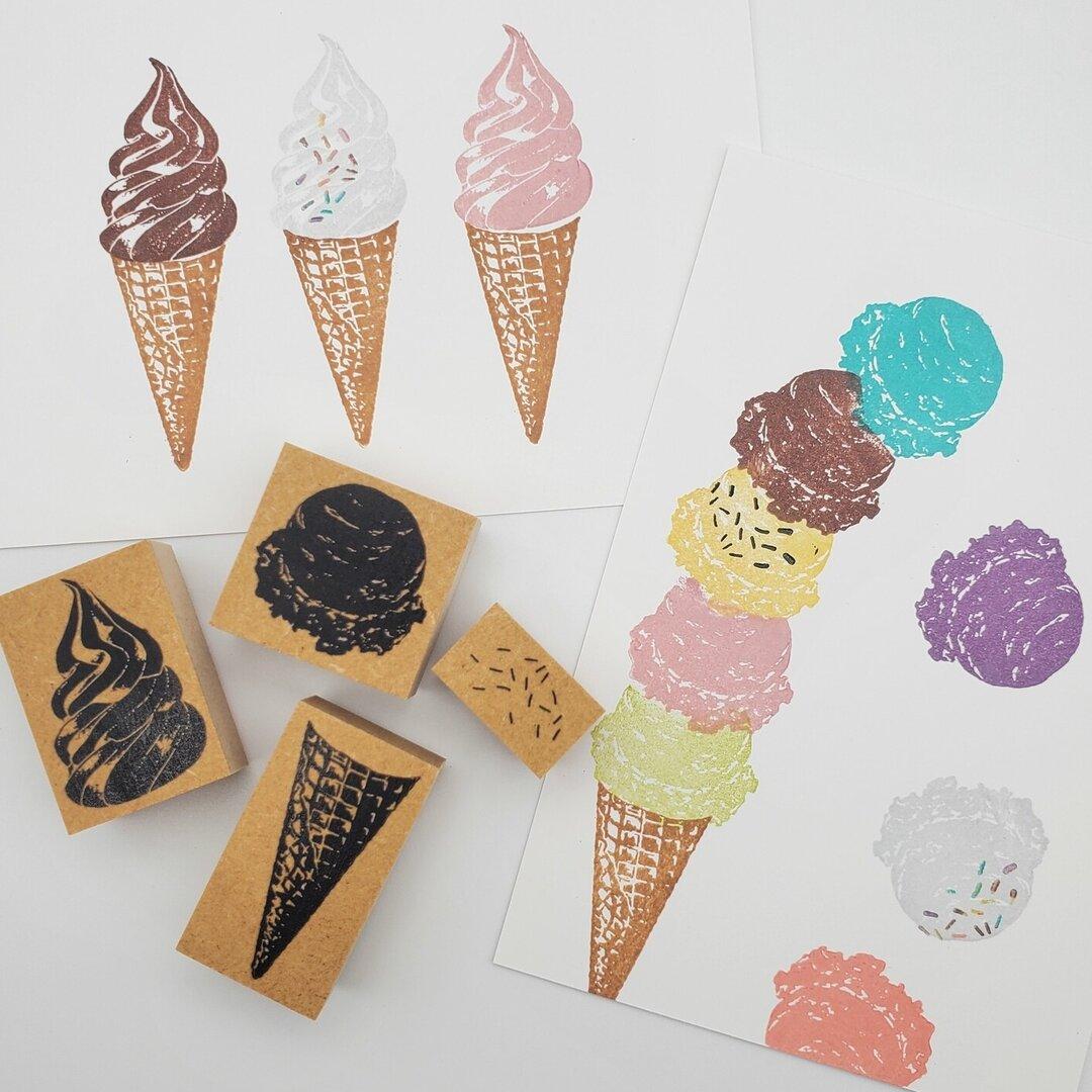 【リアルな】アイスクリームスタンプセット