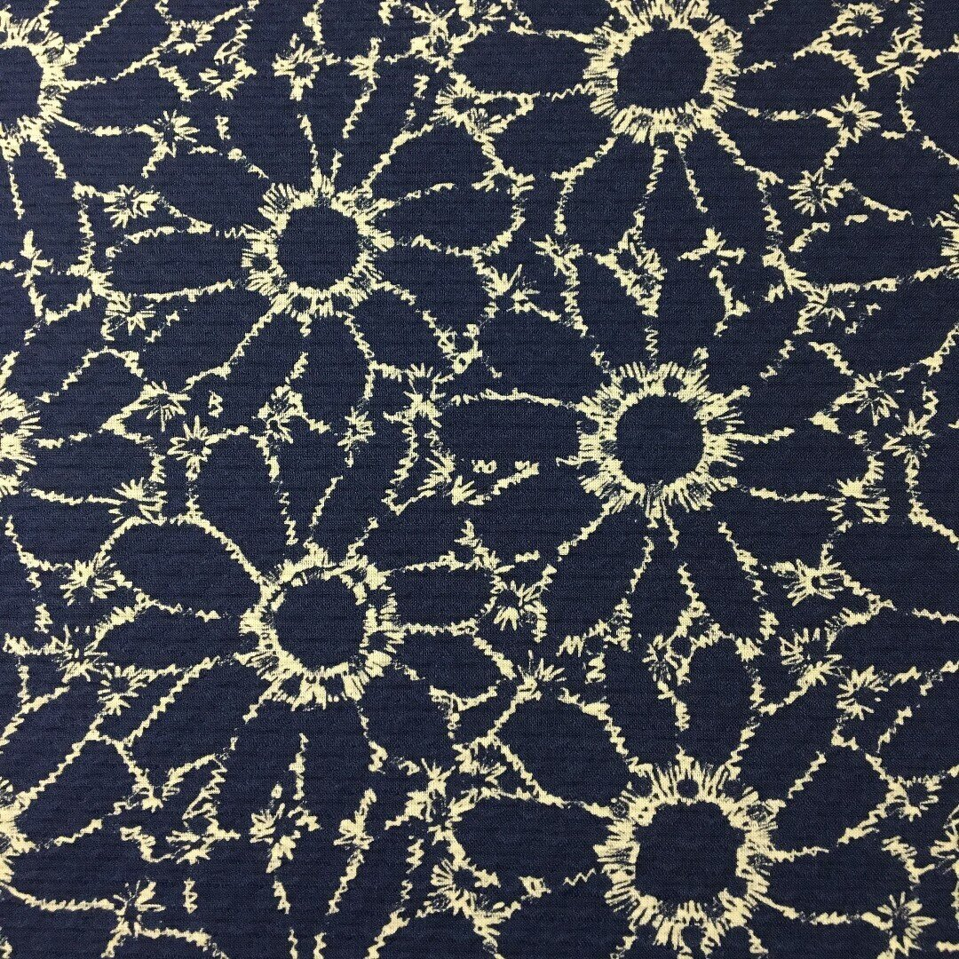 ジャガード織り 花柄 綿