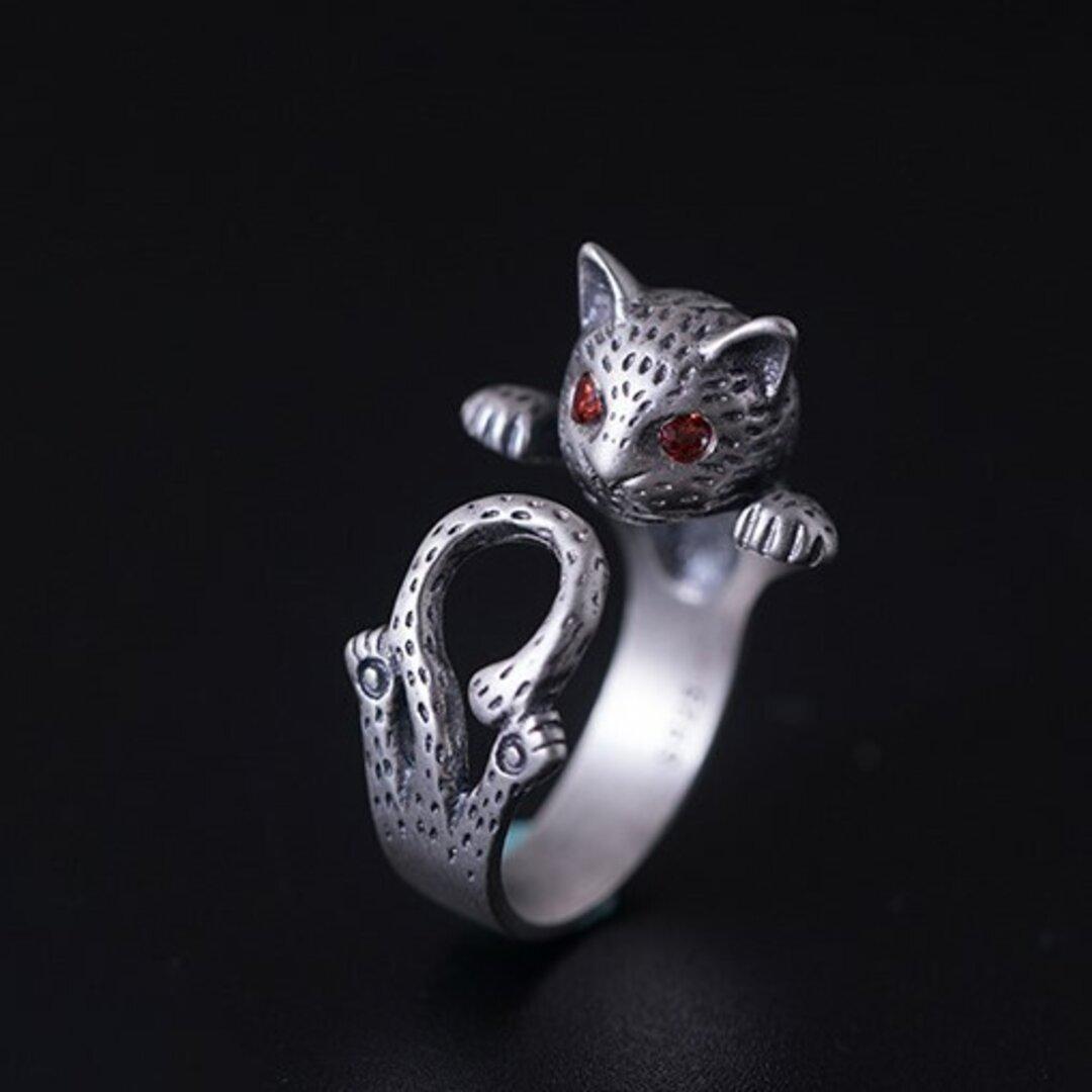 <受注制作>猫のリング ねこ SILVER 可愛い 0468