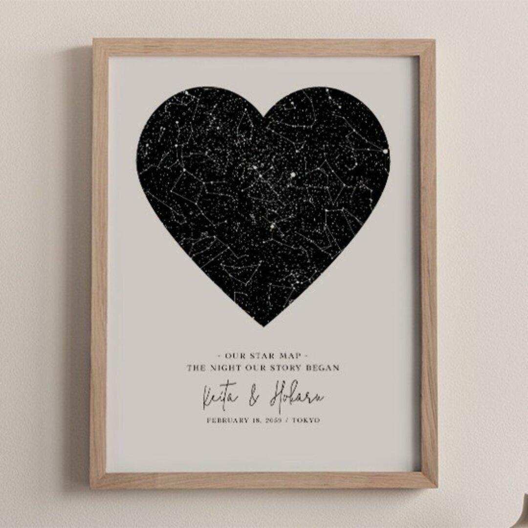 あの日の星空再現 特別な日の星空 スターマップ 記念日 誕生日 出産祝い 結婚 starmap0010
