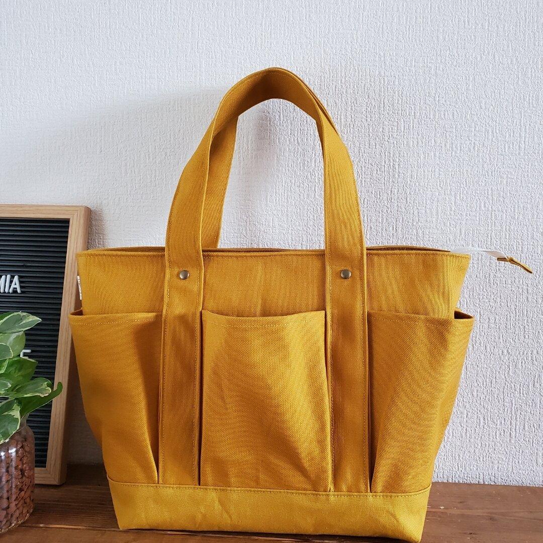 新色♡ポケットいっぱいトートバッグ♡旅行♡マザーズバッグ♡母の日♡プレゼントに