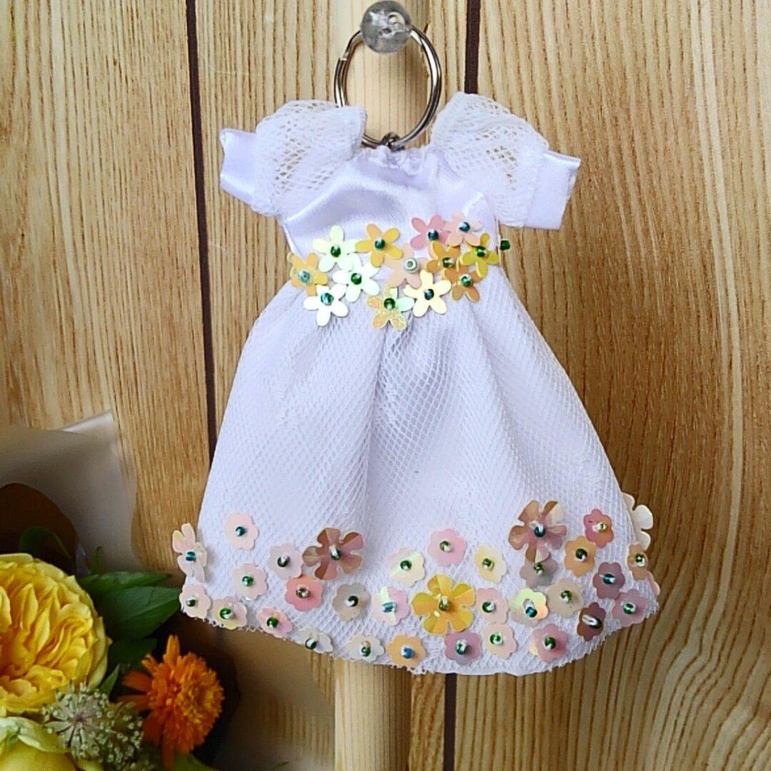 ドレス型キーケース 早春の花*花