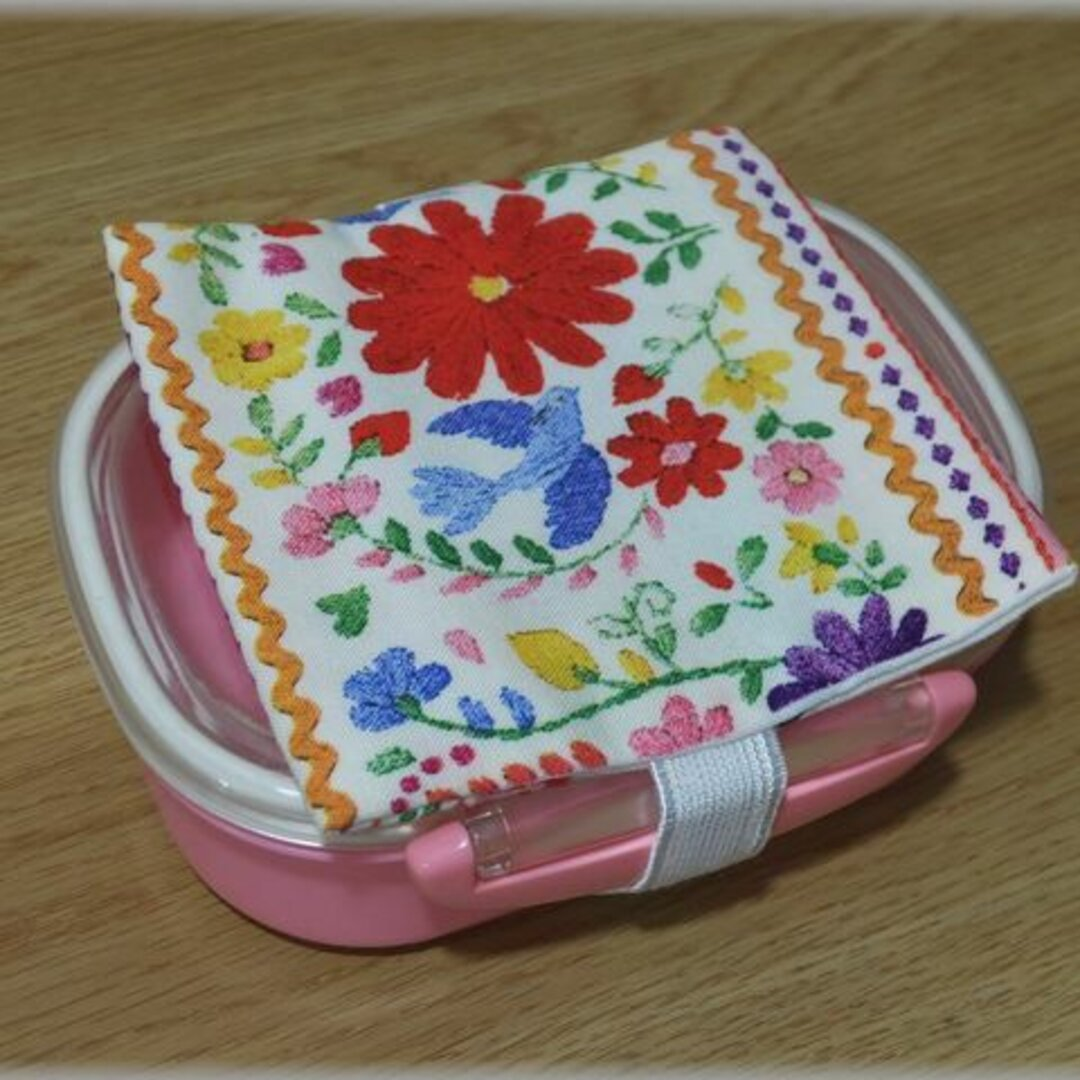 刺繍チロルテープ風 保冷剤ポケット付き ランチベルト