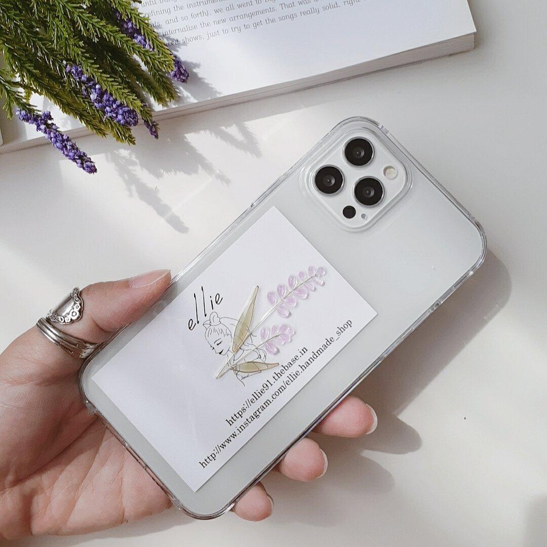 ラベンダーiPhoneケース
