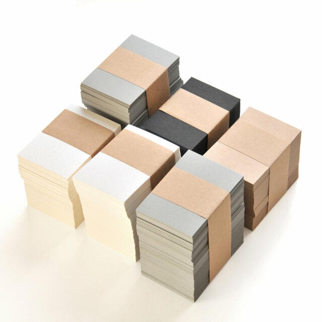 台紙とおそろいの紙のカード 無地 50枚 47×67mm(パール・マット・クラフト・グレー・ブラック)名刺 ショップカード 台紙 厚紙 A050