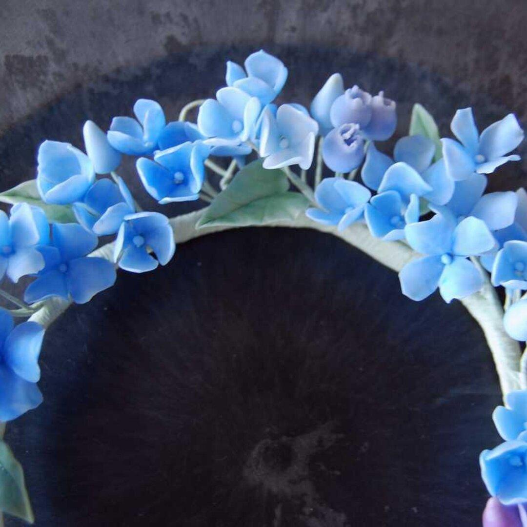 紫陽花のリース 直径約18センチ A508