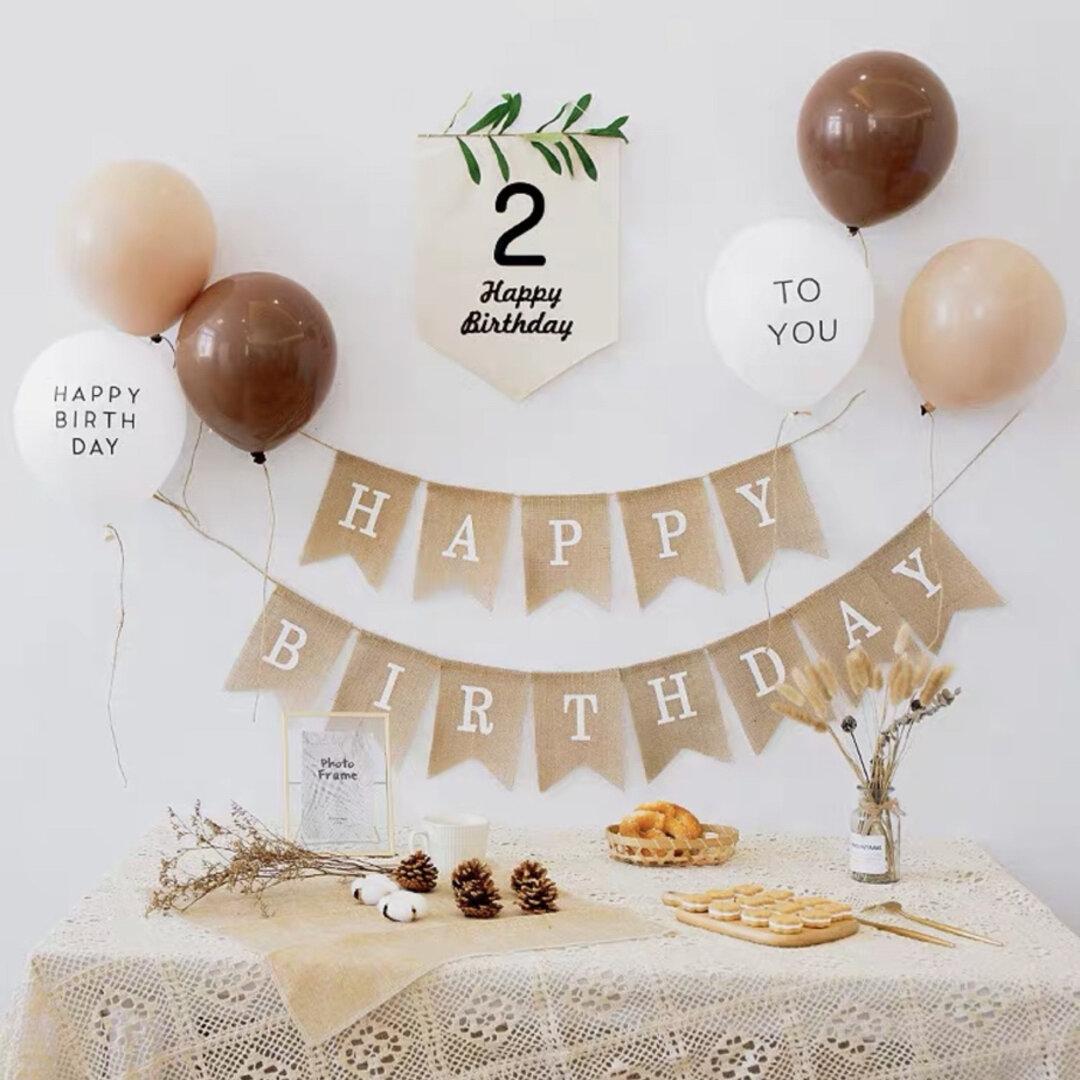 感謝セール バースデーバルーン ハーフバースデーバルーン 6個セット誕生日風船
