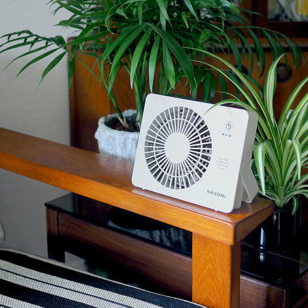 【名入れ】コンパクトな卓上扇風機をプレゼントされませんか?ミニデスクファン ブラウン