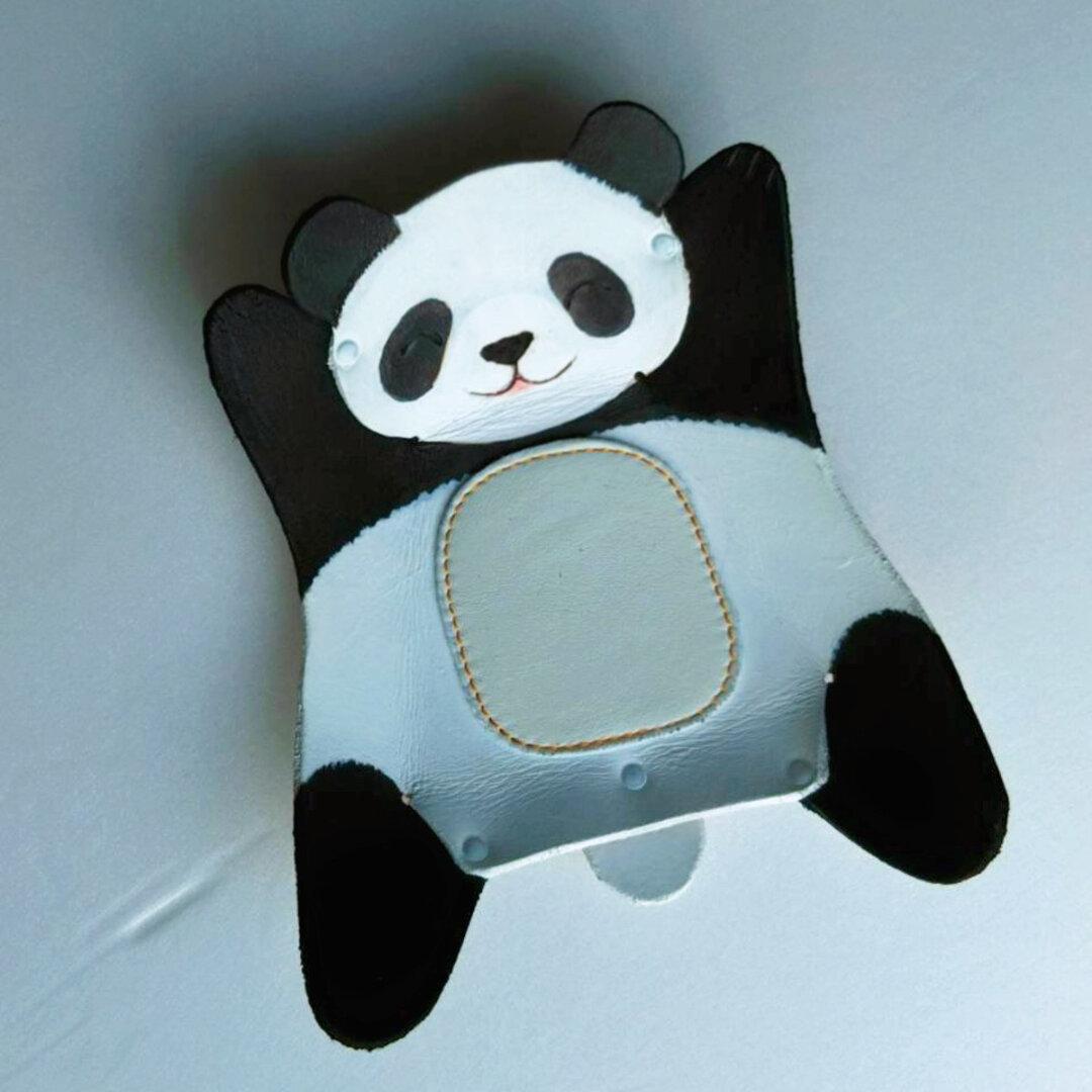 牛革製トレイ小「大熊猫」