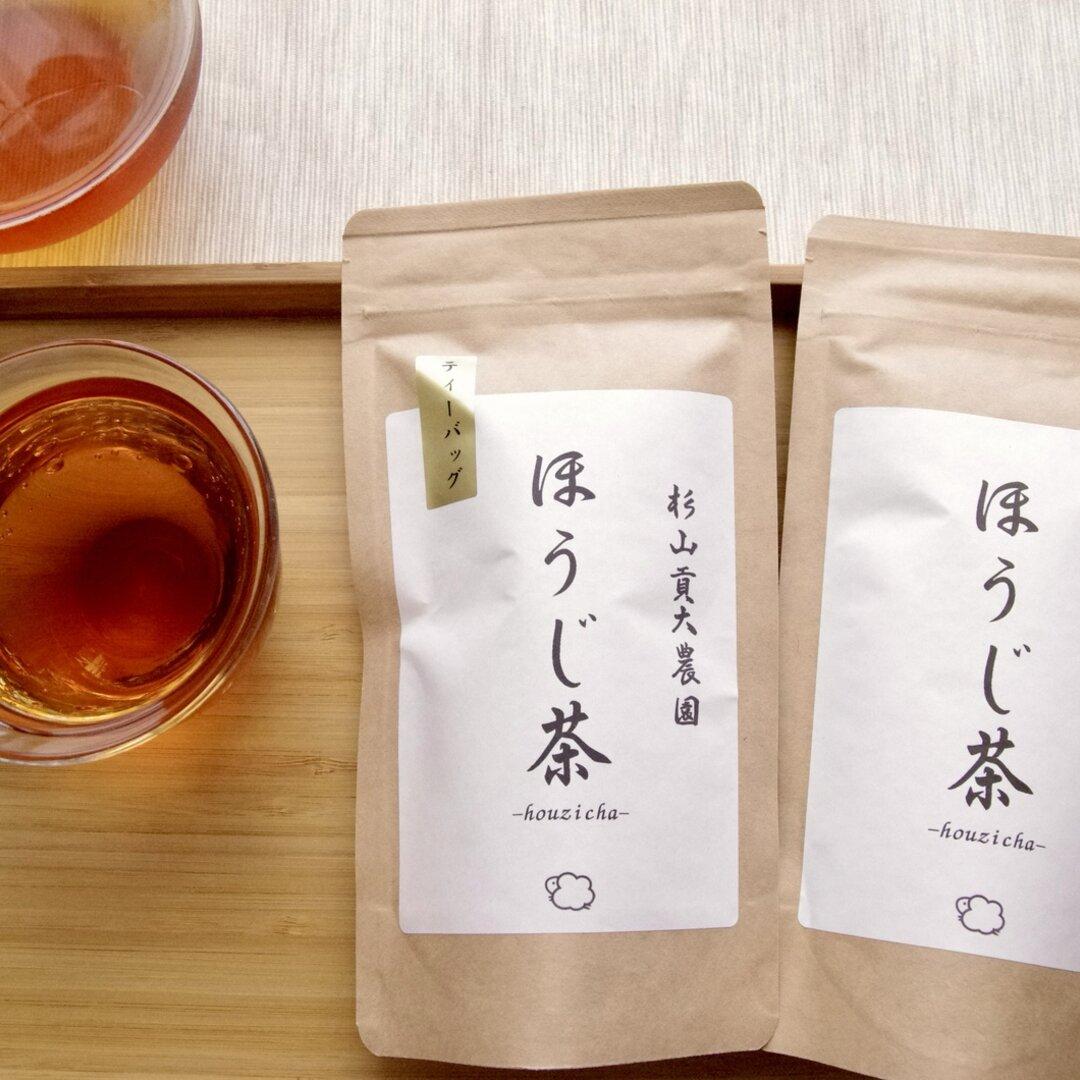 ほうじ茶好きに!杉山貢大農園の「ほうじ茶50g・ほうじ茶ティーパック」セット