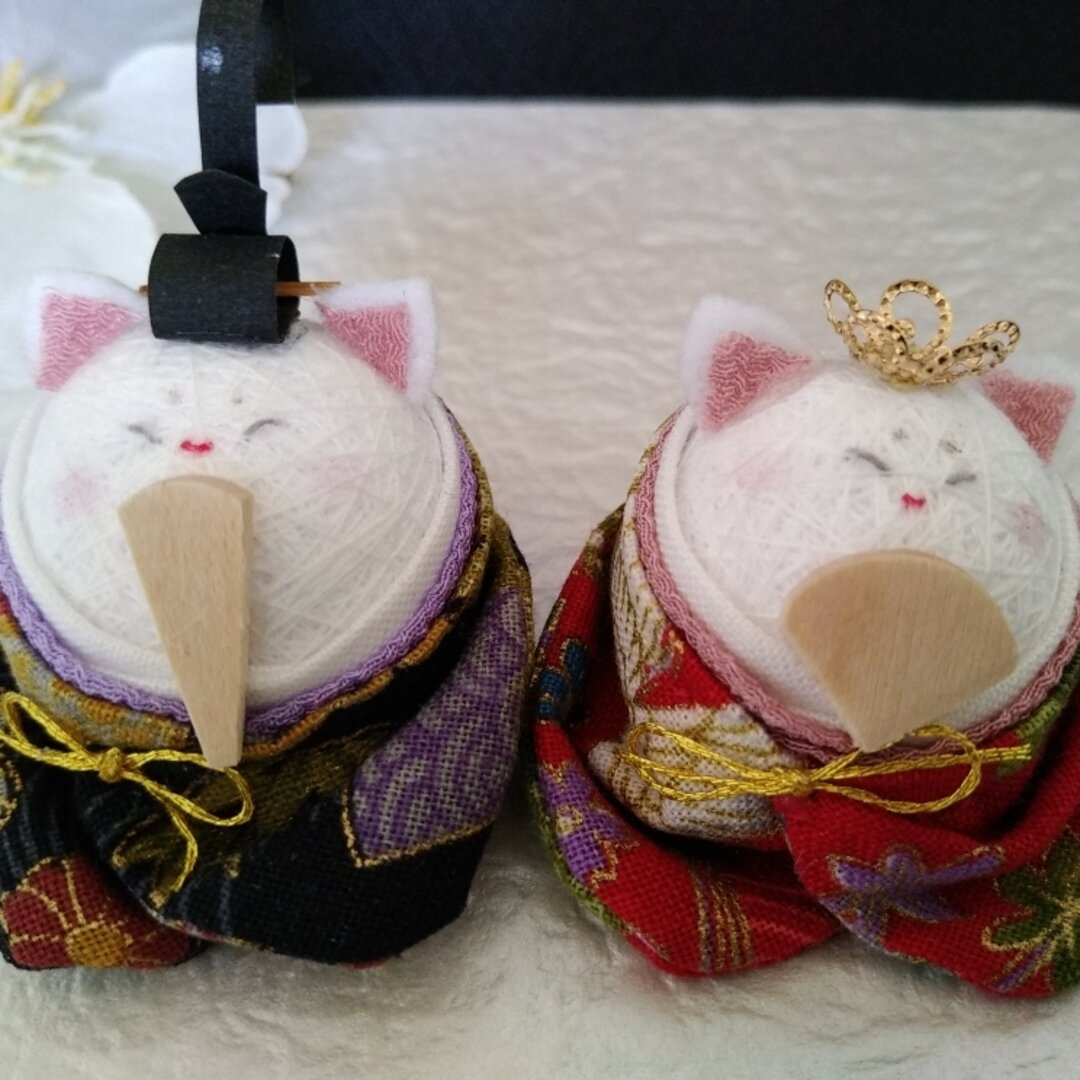 手まりのおひなさん猫(着物②)
