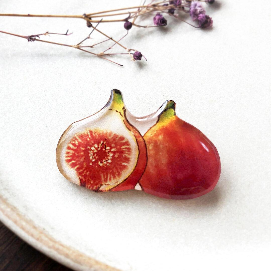 Fig brooch|無花果(いちじく)のブローチ 秋 フルーツ