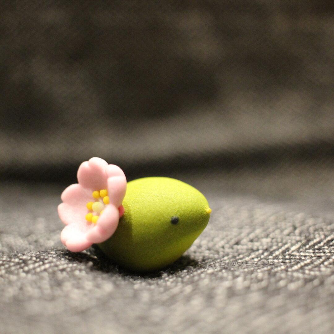 うぐいす 桜装備 置物 石膏製 桜に鶯 春告げ鳥 報春鳥