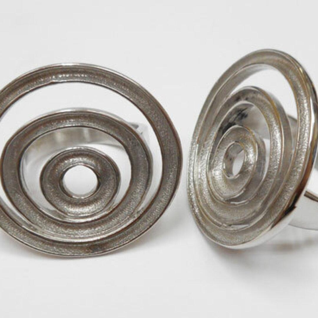S◆P Hタイプ 指輪 ハンドメイド素材 316Lステンレス ステンレスカラー 17mm(約13号)