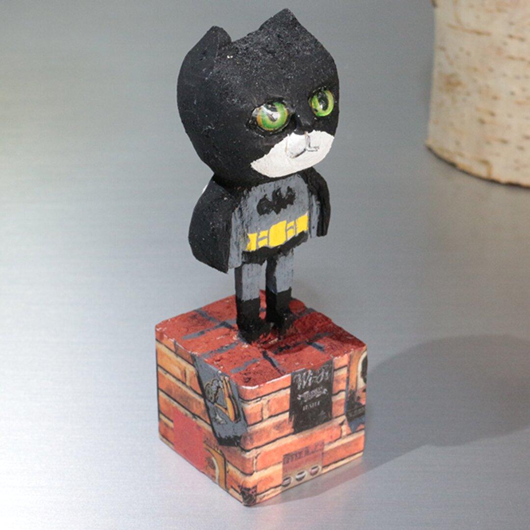 木彫り猫  仮装 ハロウィン