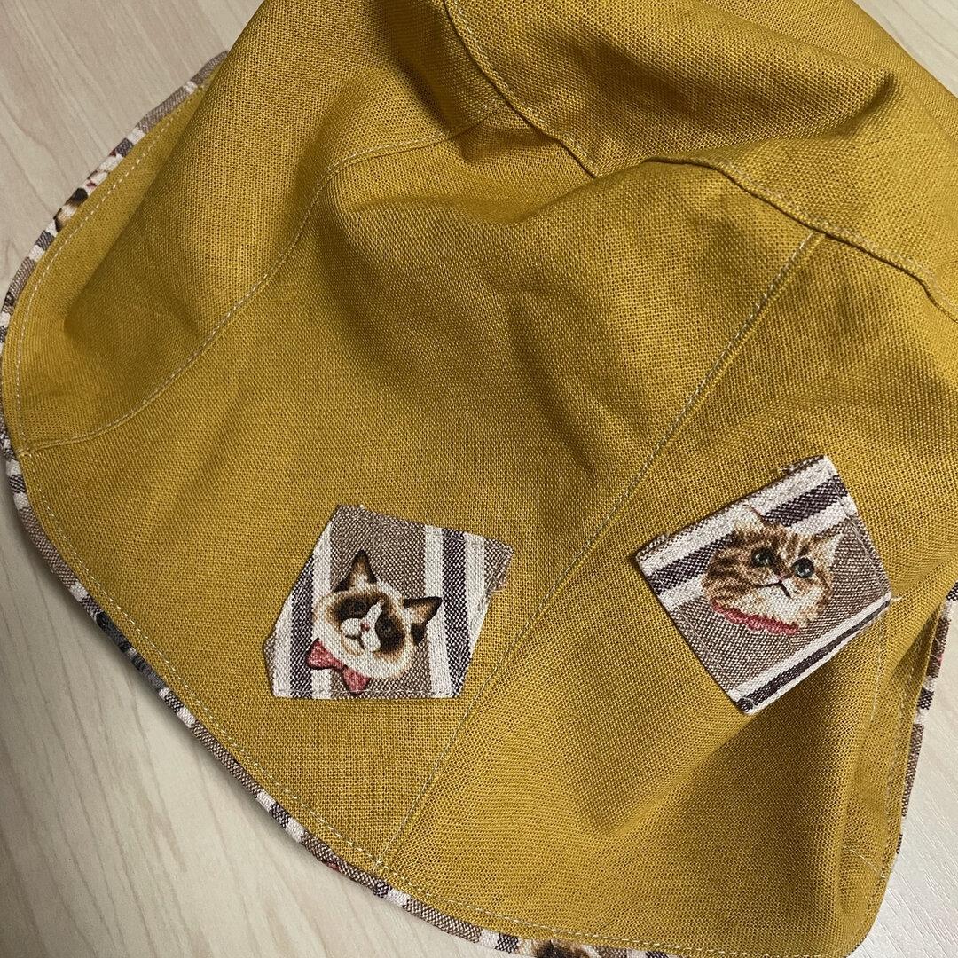 すっぽり帽子☆イエローオーカー&にゃんこ☆