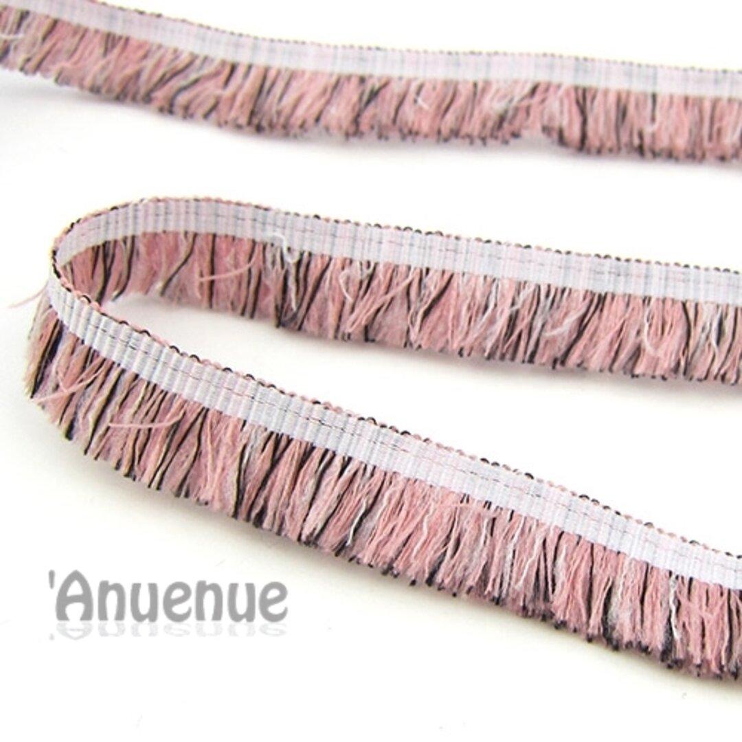 フリンジブレード(Pink x Black)幅1.5cm×1m