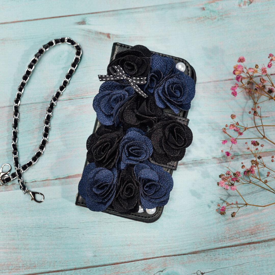 スマホケース手帳型 バラの花 iphone12Pro phone13 iphoneX iphoneSE2 iPhoneケース