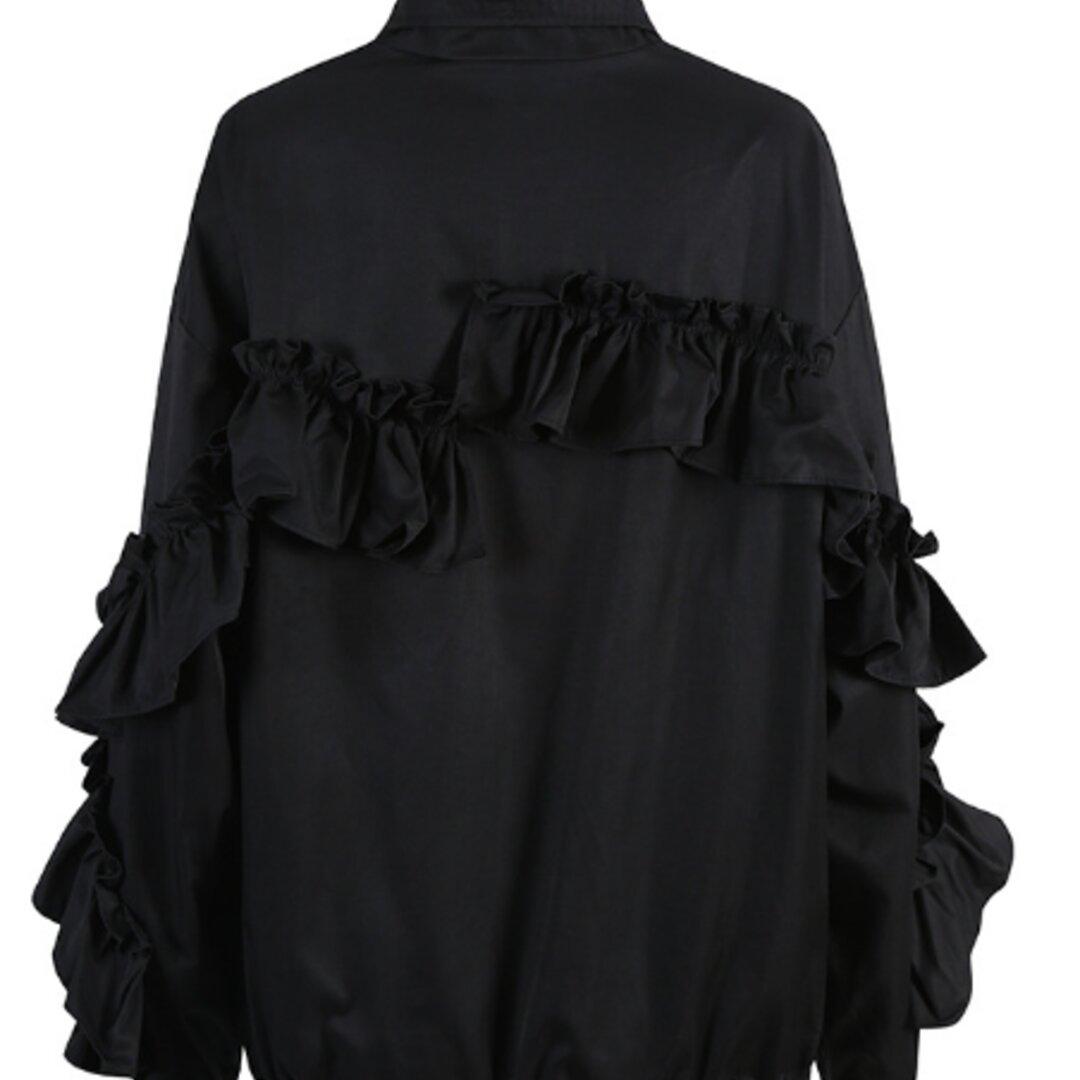 人気のオリジナルニッチデザイン,新しいスタイルの女性用コートジャケット、木製の耳が付いた立体的な装飾的なトレンディなブラ