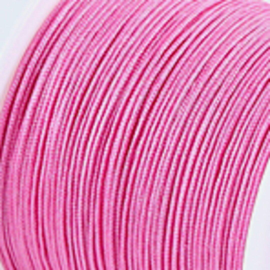 【濃いピンク】P008:中国結び用紐0.5mm (台湾AB線・72号)22メートル単位売