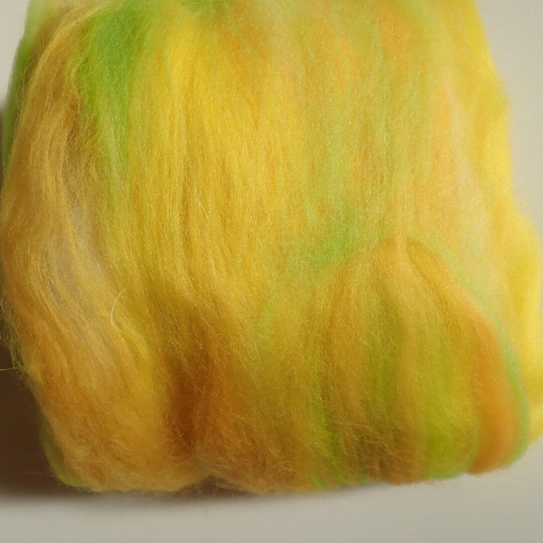 羊毛バッツ(小)イエロー・グリーン系*M005