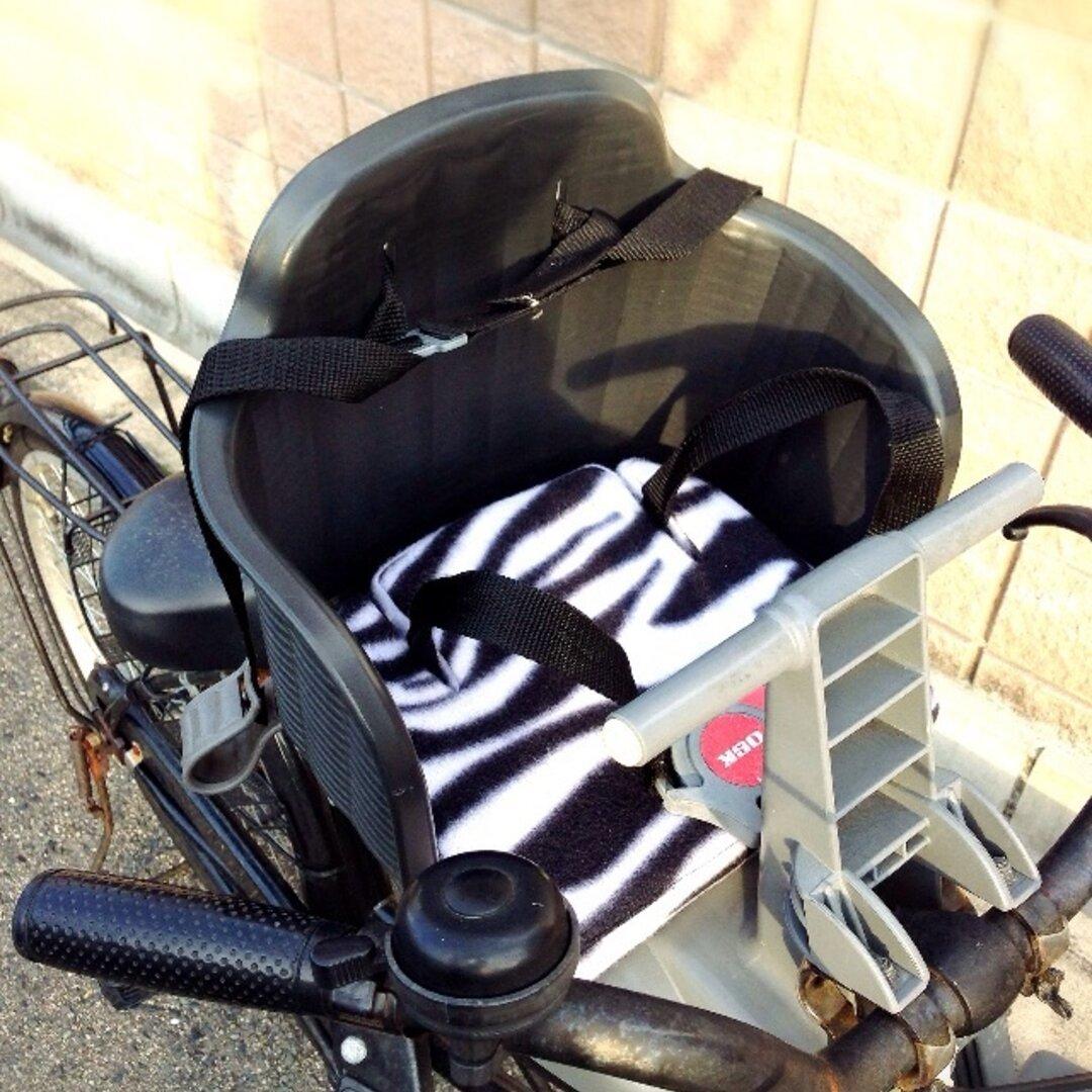 あったかフリース×ゼブラ柄 自転車チャイルドシート用 着せ替えクッション