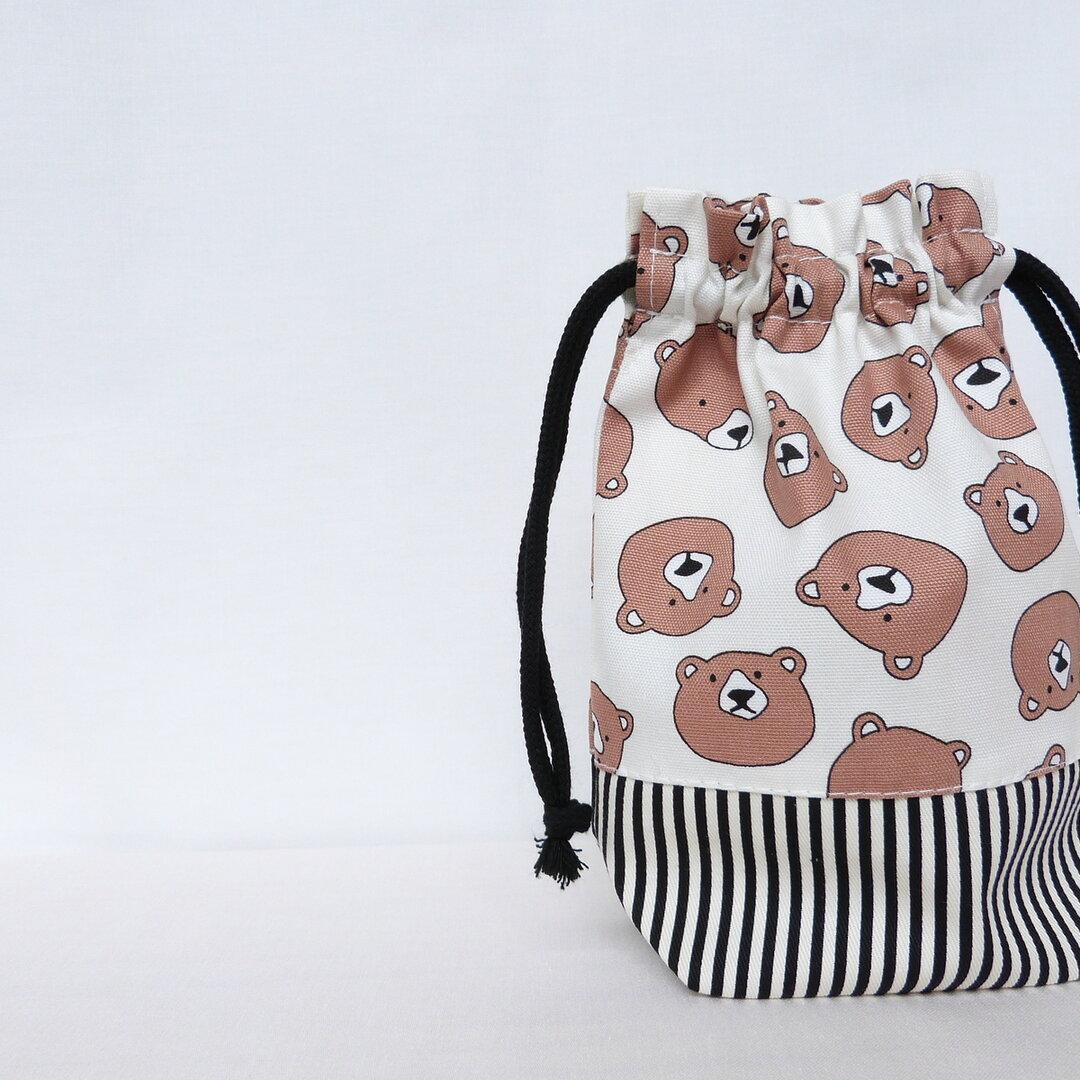 くまFACE の コップ袋