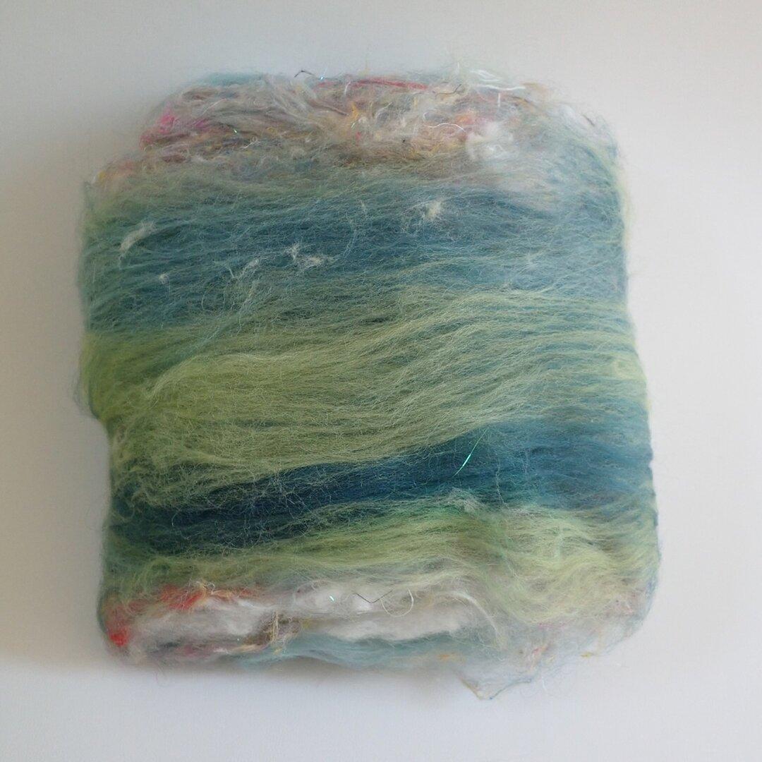 羊毛バッツ*グリーン系*J001
