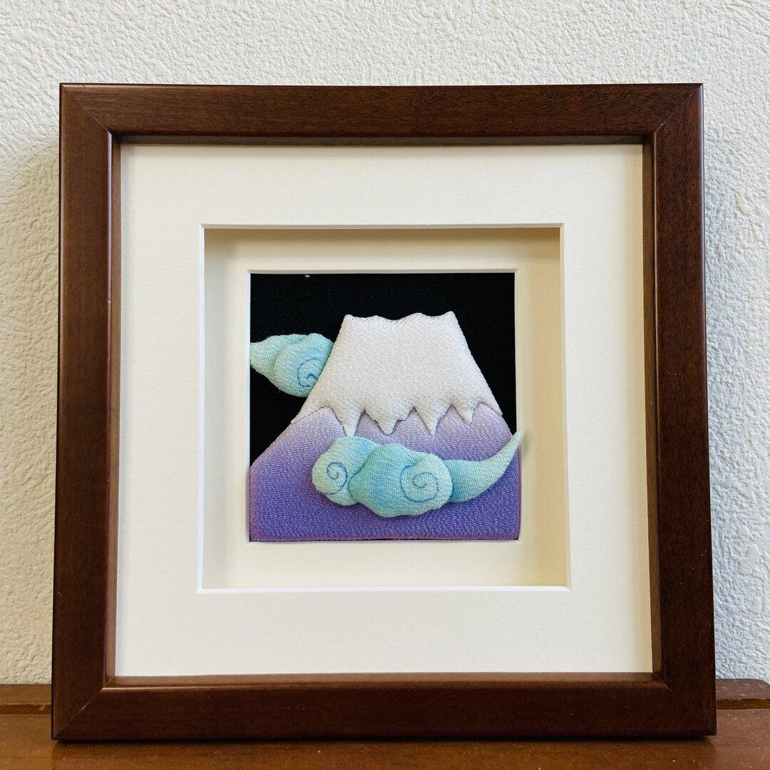 【送料無料】布絵アート「富士山」