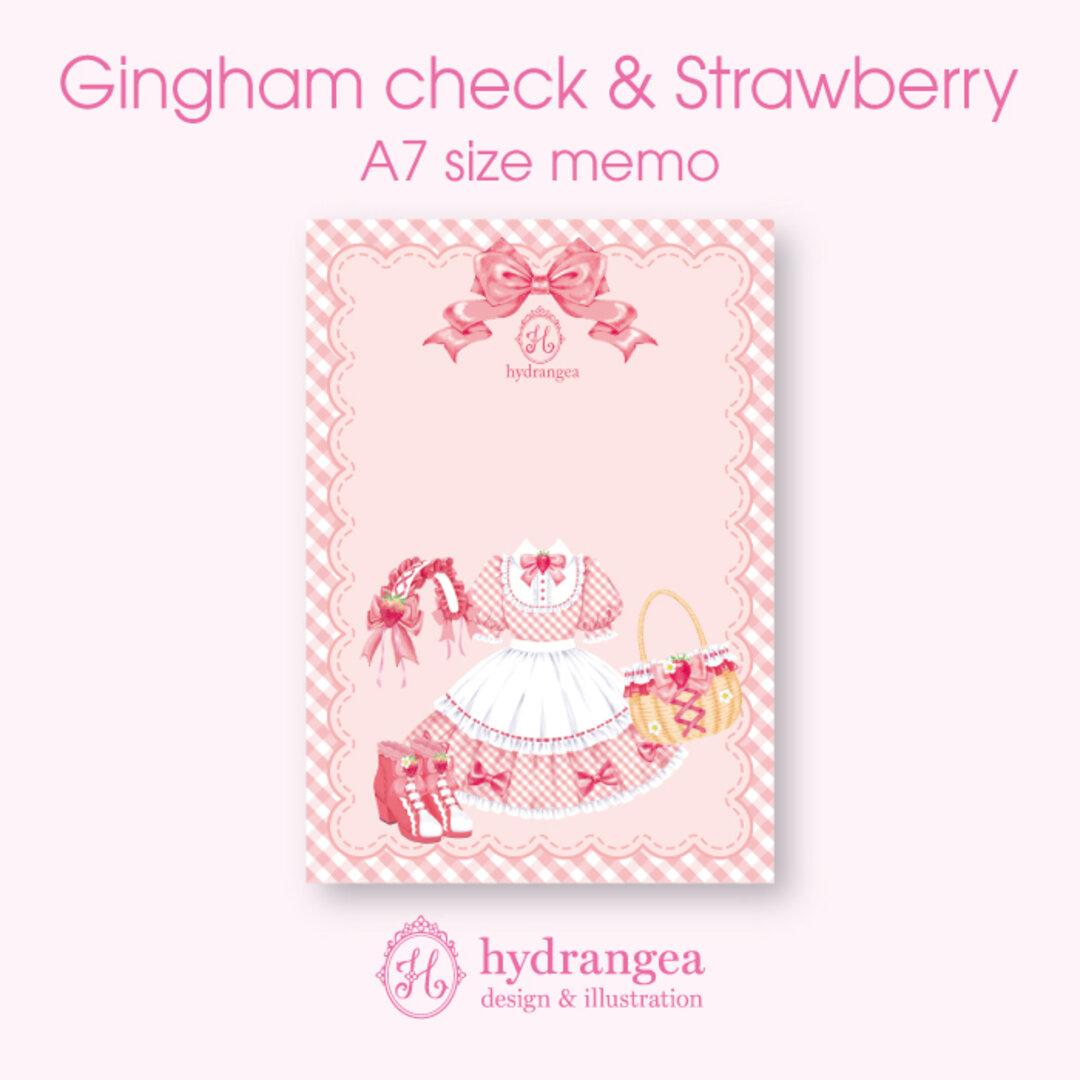 ★受注生産★【Gingham check & Strawberry-dress-】メモ