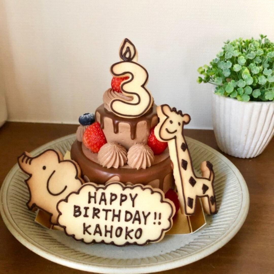 【誕生日】着色料不使用ココアアイシングの動物クッキー