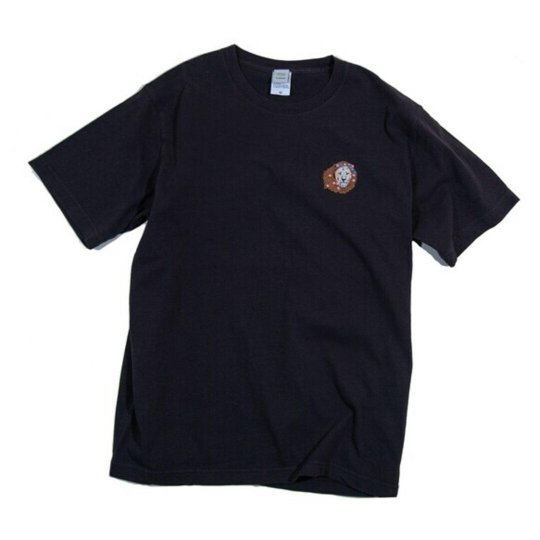 花のライオン刺繍 Tシャツ ユニセックスS〜XL Tcollector